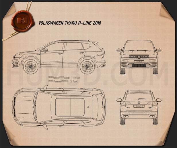 Volkswagen Tharu R-Line 2018 Blueprint