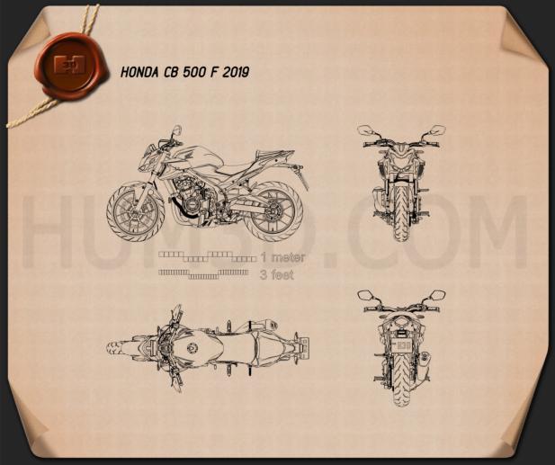 Honda CB500F 2019 Blueprint