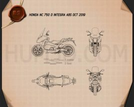 Honda NC750D INTEGRA ABS DCT 2019 Blueprint