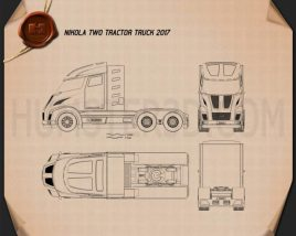 Nikola Two Tractor Truck 2017 Blueprint