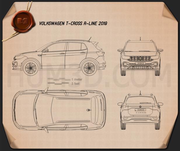 Volkswagen T-Cross R-Line 2019 Blueprint