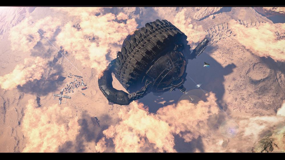 Gigantic Mars colonization vehicle by Shangyu Wang
