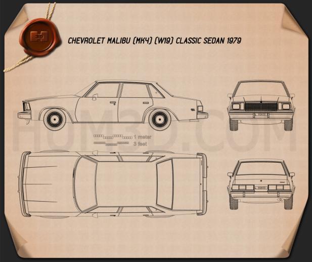 Chevrolet Malibu Classic Sedan 1979 Blueprint