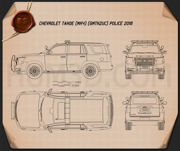Chevrolet Tahoe Police 2016 Blueprint