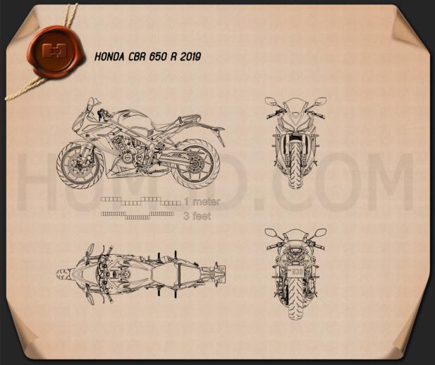Honda CBR650R 2019 Blueprint
