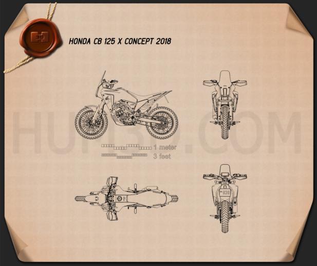 Honda CB125X 2018 Blueprint