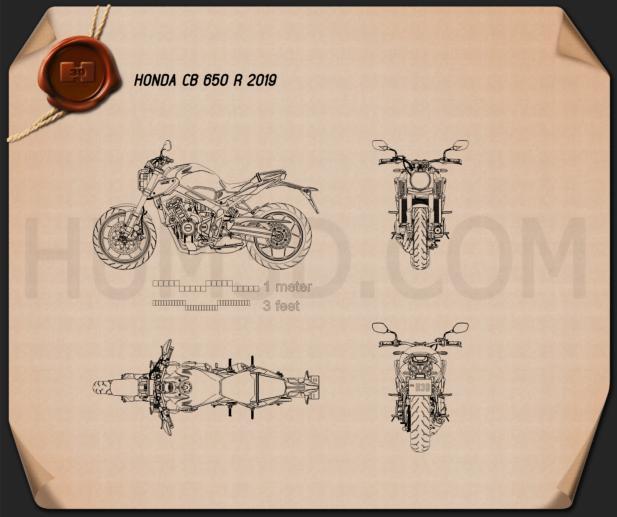 Honda CB650R 2019 Blueprint