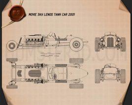 Blastolene Special Jay Leno Tank Car 2001 Blueprint