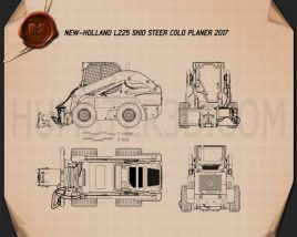 New Holland L225 Skid Steer Cold Planer 2017 Blueprint