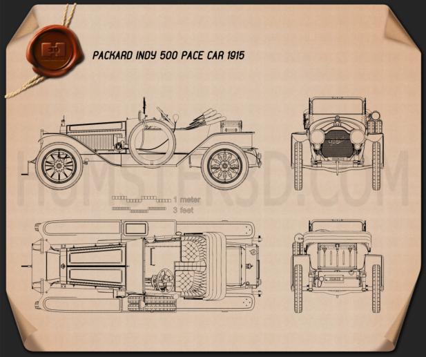 Packard Indy 500 Pace Car 1915 Blueprint