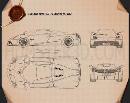 Pagani Huayra Roadster 2017 Blueprint