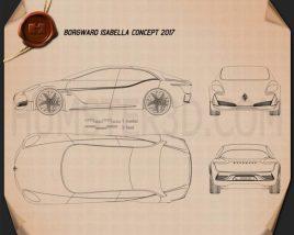 Borgward Isabella 2017 Blueprint