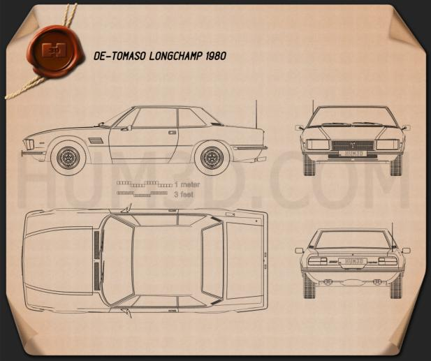 De Tomaso Longchamp 1980 Blueprint