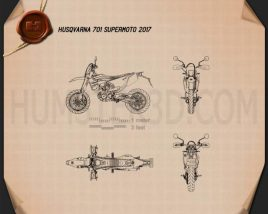 Husqvarna 701 Supermoto 2017 Blueprint