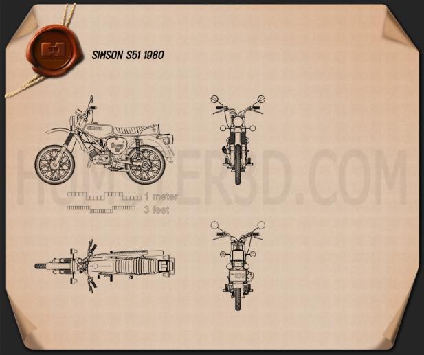 Simson S51 1980 Blueprint