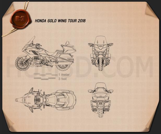 Honda Gold Wing Tour 2018 Blueprint