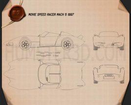 Speed Racer Mach 5 1997 Blueprint