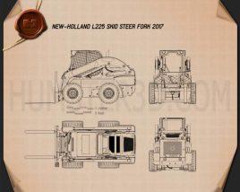 New Holland L225 Skid Steer Fork 2017 Blueprint