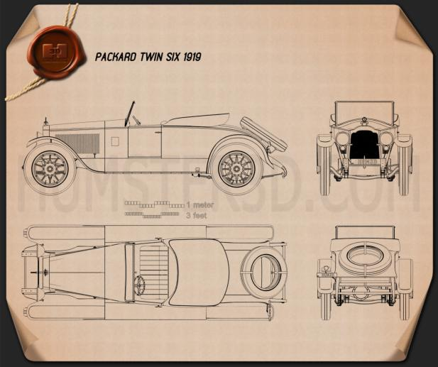 Packard Twin Six 1919 Blueprint