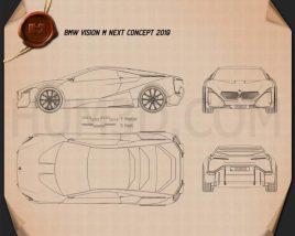 BMW Vision M Next 2019 Blueprint