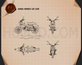 Honda Monkey 125 2019 Blueprint