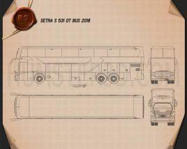 Setra S 531 DT Bus 2018 Blueprint