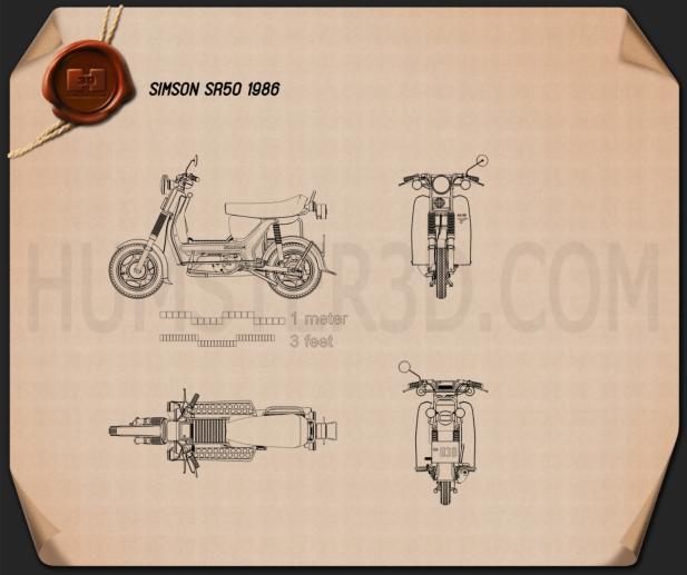 Simson SR50 1986 Blueprint