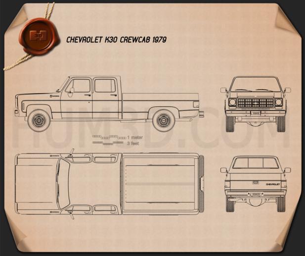 Chevrolet K30 Crew Cab 1979 Blueprint
