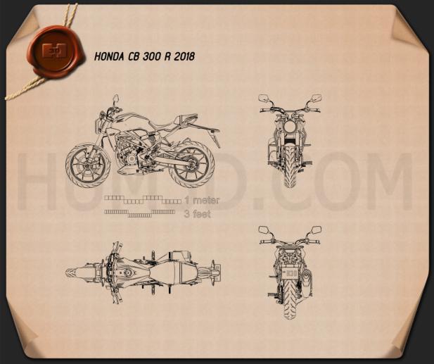 Honda CB300R 2018 Blueprint