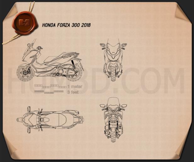 Honda Forza 300 2018 Blueprint