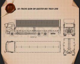 UD Trucks Quon GW Quester Box Truck 2019 Blueprint