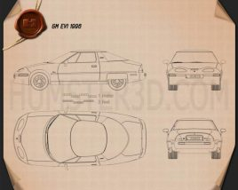GM EV1 1996 Blueprint
