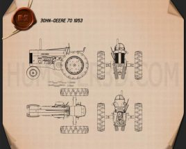 John Deere 70 1953 Blueprint