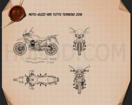 Moto Guzzi V85 Tutto Terreno 2019 Blueprint