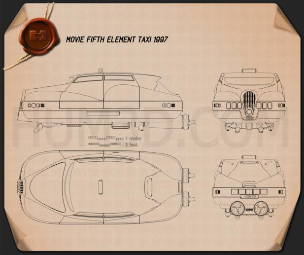 Fifth element taxi Blueprint