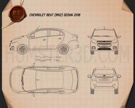 Chevrolet Beat sedan 2018 Blueprint