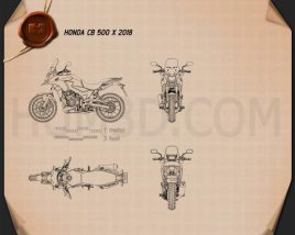 Honda CB500X 2018 Blueprint