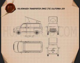 Volkswagen Transporter California 2011 Blueprint