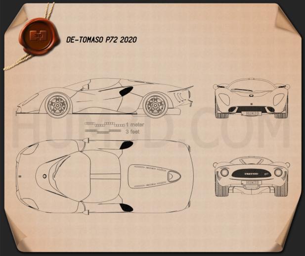De Tomaso P72 2020 Blueprint