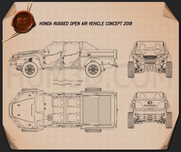 Honda Rugged Open Air Vehicle 2018 Blueprint