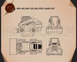 New Holland L225 Skid Steer Loader 2017 Blueprint