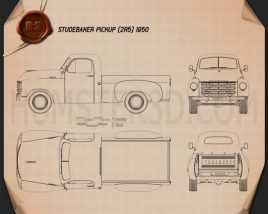 Studebaker Pickup 1950 Blueprint