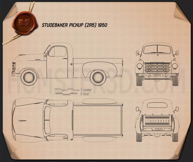 Studebaker Pickup 1950 Blueprint