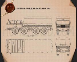 Tatra 813 Double Cab KOLOS Truck 1967 Blueprint