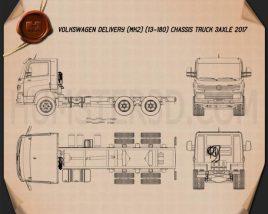 Volkswagen Delivery (13-180) Chassis Truck 3-axle 2017 Blueprint