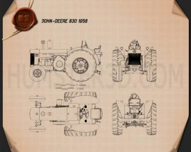 John Deere 830 1958 Blueprint