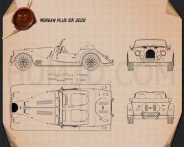 Morgan Plus Six 2020 Blueprint