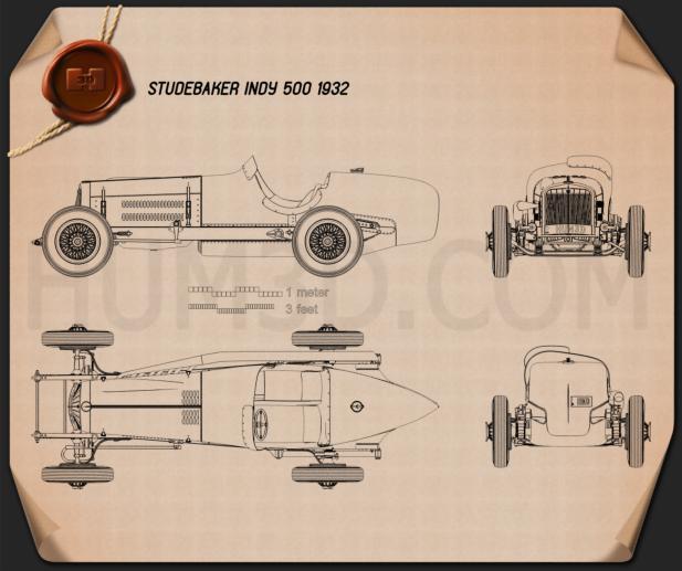 Studebaker Indy 500 1932 Blueprint
