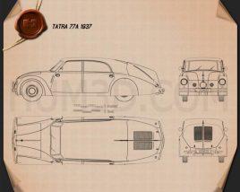 Tatra 77a 1937 Blueprint