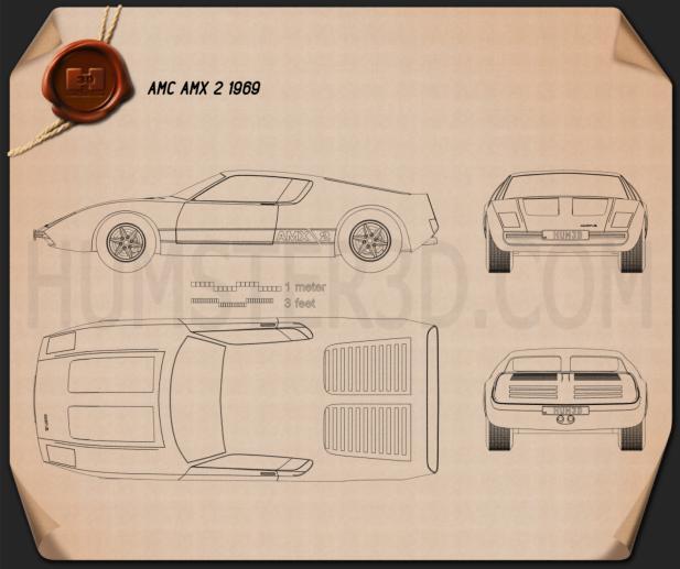 AMC AMX 2 1969 Blueprint